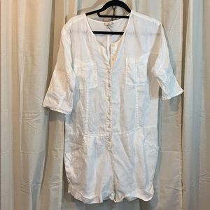 GUC Airy Joie White Summer Romper Size S